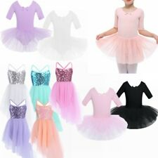Girls Dance Ballet Leotard Dress Kids Tutu Skirt Ballerina Dancewear Costume