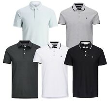 Jack & Jones Premium Men Cotton Polo Shirt Short Sleeve Casual Pique T-shirt Top