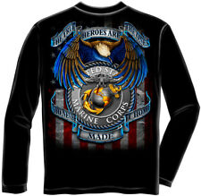 Marine Corps, USMC Long Sleeve True Hero Marines Black