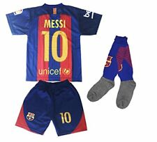 Youth FC Barcelona Messi 10 Football Soccer Kids Jersey & Short & socks New