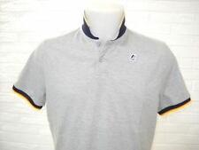 K-WAY K WAY VINCENT CONTRAST Slim Cotone Piquet Polo Shirt Man Grigio Melange