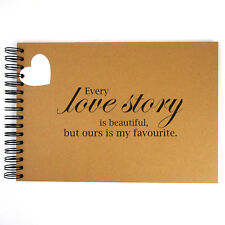 Love Story, Scrapbook, Card Pages, Photo Album, Keepsake, Memories, Gift, A5 A4