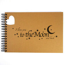 Love You to the Moon, Scrapbook, Card Pages, Photo Album, Gift, Memories, A5 A4