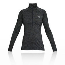 Under Armour Womens Tech Twist Half Zip Running Top Black Sports Breathable