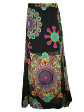 LUNGO Desigual donna estate gonna Avinash in Nero (nero) NUOVO + conf. orig.