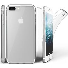 iphone X full 360 Front Back Clear Gel Case Protector Iphone 7 8 plus clear case