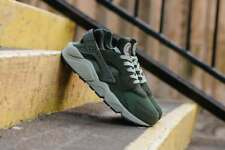 NIKE AIR HUARACHE RUN - SEQUOIA, DARK STUCCO & BLACK TRAINERS RARE IN ALL SIZES