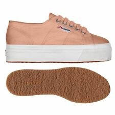 SUPERGA 2790 zeppa 4cm Scarpe DONNA Acotw up and down pink PEACH Prv/Est New X7Z