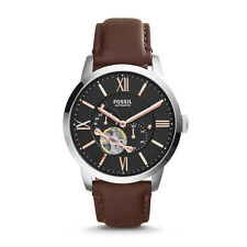 FOSSIL TOWNSMAN AUTOMATIC BLACK DIAL BROWN LEATHER STRAP ME3061 MEN'S WATCH