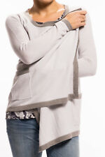 Witty Knitters - Georgie Cardigan beige manica lunga Ladies Giacca cashmere