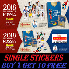 Panini WORLD CUP 2018 RUSSIA STICKERS #1-250    BUY 2 GET 10 FREE!!  FREEPOST
