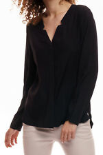 Witty Knitters - camiseta blusa Rebecca negro, blusa, blusa, businessbluse
