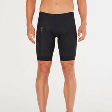 2XU Mens Compression Tri Short Black Sports Triathlon Full Zip Breathable