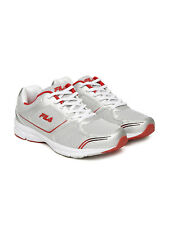 Fila Men's Run Fast Plus 4 Silver and Red Sports Shoes - Flat 50% discount