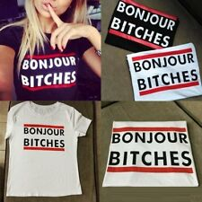 T shirt Boujour Bitches Vogue blogger Style America street fashion top tee woman