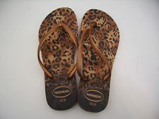 Havaianas Ciabatta Infradito Donna Slim Animals Ferrugem Marrone Ruggine