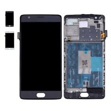 Lcd Touch Screen Vetro Schermo Display Frame Nero Per One Plus Oneplus 3 A3003