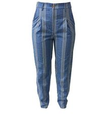 ATTIC AND BARN pantalones de mujer rayas azul/ecru mod ANDRES MADE IN ITALY