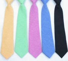 *UK Seller* Quality Boys Pre Tied Elasticated Smart Cotton Occasion Tie 29cm