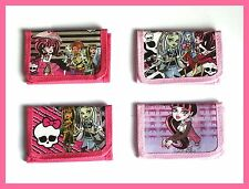 MONSTER HIGH WALLETS,GIRLS PURSE,DRACULAURA,FRANKIE-STEIN,GHOULIA-YELPS