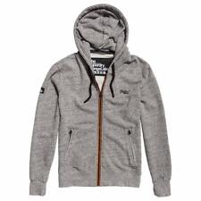 Superdry Mens Urban Flash Zip Hood Jacket Grey Grit Orange M20022XP