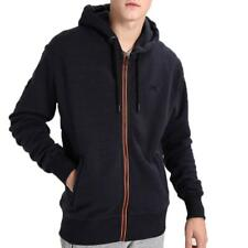 Superdry Mens Urban Flash Zip Hood Jacket Navy Grit Orange M20022XP