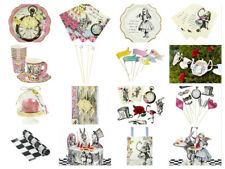 Alice In Wonderland Mad Hatter Birthday Tea Party Cups Plates Napkins Props New
