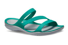 SANDALI DONNA SNEAKERS CROCS SWIFTWATER [203998 TROPICAL TEAL/LIGHT GREY]