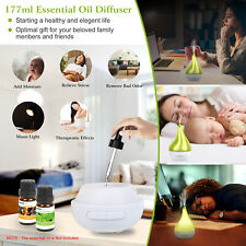 LED Aroma Diffuser Air Humidifier Therapeutic Aromatherapy Essential Oils Set