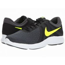 Nike Mens Revolution 4 Trainers, Nike Revolution Running Shoes - Grey Yellow