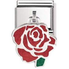 Nomination Italy Nominations Silver Pendant Red Rose Charm Tool
