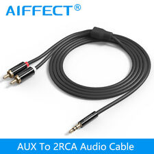 AIFFECT Jack Da 3.5mm a 2 RCA Cavo Audio AUX Splitter 3.5mm Stereo Maschio a