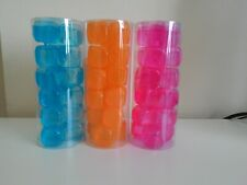 18 X Reusable Plastic Ice Cubes Cool Cold Drinks Cooler Party Freezer Blocks