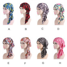 New Indian MuslimWomen Stretch Turban Hat Scarf Headwrap Bandana Chemo Cap Hijab