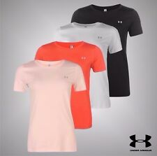 Ladies Under Armour Lightweight HeatGear Armour Training T Shirt Top Size 8-16