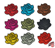 Rose Flower Floral Embroidered Iron Sew on Patches Dress Applique Badge From UK