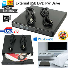 External USB 2.0 DVD RW DVD ROM CD RW Drive Burner writer player Laptop PC 2018