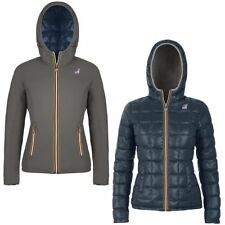 K-WAY Imbottita reverse giacca DONNA CAPPUCCIO LILY THERMO PLUS DOUBLE KWAY 989w