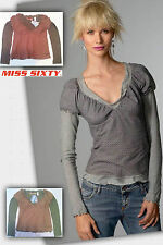 Top MISS SIXTY manga larga / NEW with tags Blouse long sleeves 60
