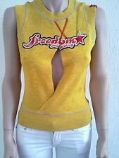 Miss Sixty top vest brand new with tags 60 yellow amarillo sleeveless sweater
