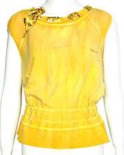 Miss Sixty top vest brand new with tags sweater sueter 60 yellow damen neu gelb