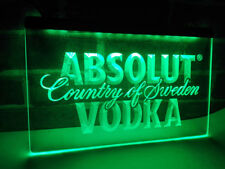 Absolut Vodka Drink LED Neon Light Sign Plate Flag Bar Club Pub Country Sweden