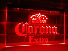 Corona Extra Beer Drink Fan LED Neon Light Sign Plate Flag Bar Club Pub Gift Kit