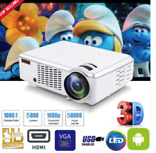 5000LM WIFI 1080P HD 3D ANDROID4.4 LCD+LED PROYECTOR Cine MULTIMEDIA HDMI USB AV