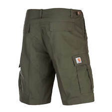 CARHARTT AVIATION Cargo Short Ripstop Bermuda Cypress OLIVE coupe slim homme