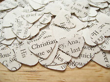Fifty Shades of Grey Book Confetti Hearts - Hen Bachelorette Party Table Decor