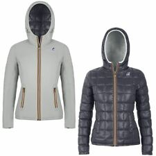 K-WAY LILY THERMO PLUS DOUBLE Imbottita reverse giacca DONNA CAPPUCCIO KWAY 908l