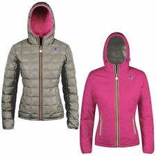 K-WAY Imbottita reverse giacca DONNA CAPPUCCIO LILY THERMO PLUS DOUBLE KWAY 922w