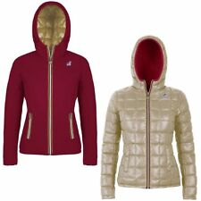K-WAY LILY THERMO PLUS DOUBLE Imbottita reverse giacca DONNA CAPPUCCIO KWAY 988a