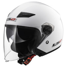 LS2 OF569 Track Blanc Ouvert Double visière scooter casque moto